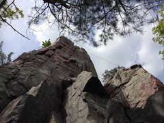Rock Climbing Photo: Moving towards the lower Crux