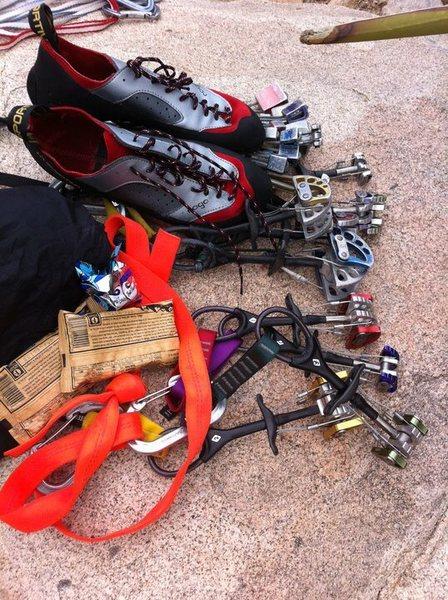 Rock Climbing Photo: J Tree craging kit!!!!