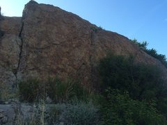 Rock Climbing Photo: A view of the wall and its many aid training probl...