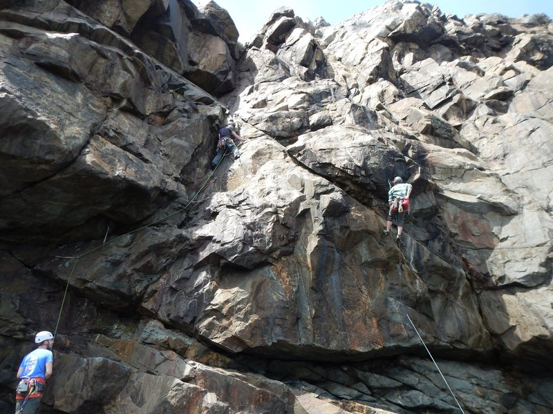 Left climber on Bilge, right climber on SinBad.