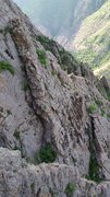 Rock Climbing Photo: Moss Lord's slab, as seen from the top of Journey ...
