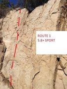 Rock Climbing Photo: ROUTE 1 5.8+ SPORT