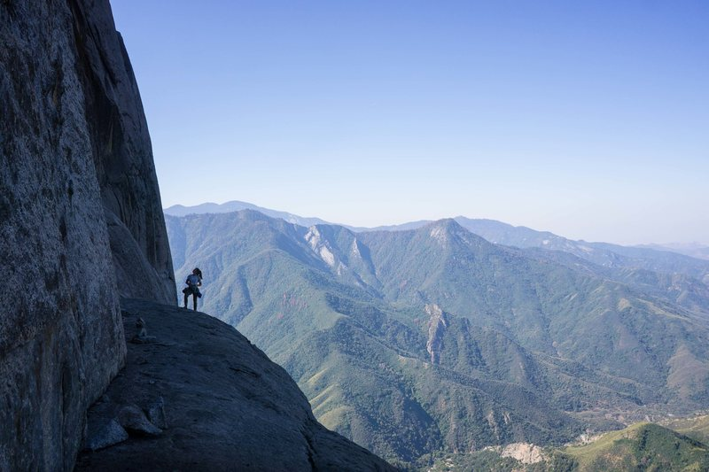Rock Climbing Photo: on condor watch. cairn marks the start of the 3rd ...