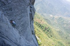 "Rock Climbing Photo: ""5.8 scant pro"" on the 4th pitch ""r..."