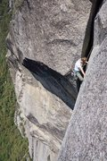 Rock Climbing Photo: a surprise chimney at the end of the crux