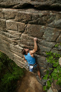 Rock Climbing Photo: Travis Rawlings on the vertical section on Breakin...