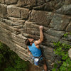 Travis Rawlings on the vertical section on Breaking a Cold Sweat, 5.11+.