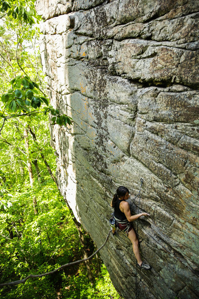 Rock Climbing Photo:  Kylie on Breaking a Cold Sweat, 5.11+.