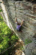 Zach Lesch-Huie of the Access Fund on Breaking a Cold Sweat, 5.11+.