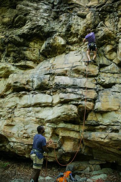 Rock Climbing Photo: Zachary Lesch-Huie starting up How Do You Spell Br...