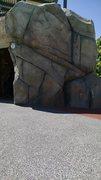 Rock Climbing Photo: Building Leg Boulder.