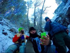 Rock Climbing Photo: Erik, Bobathan and the Mysto Ice!!!