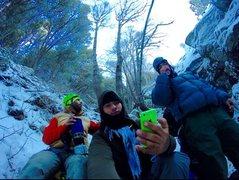 Rock Climbing Photo: Erik, Bobathan and the Mysto Ice!!!