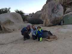 Rock Climbing Photo: Chris, Mel, Bodhi & The J Tree!!