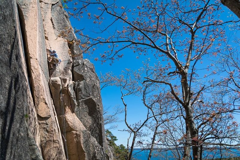 Rock Climbing Photo: leading Old Town in Acadia