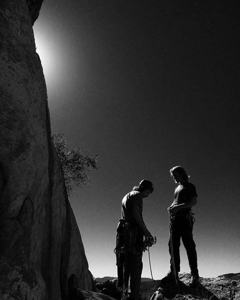 Rock Climbing Photo: Cooper, Chris & the black and white ambiance!!!