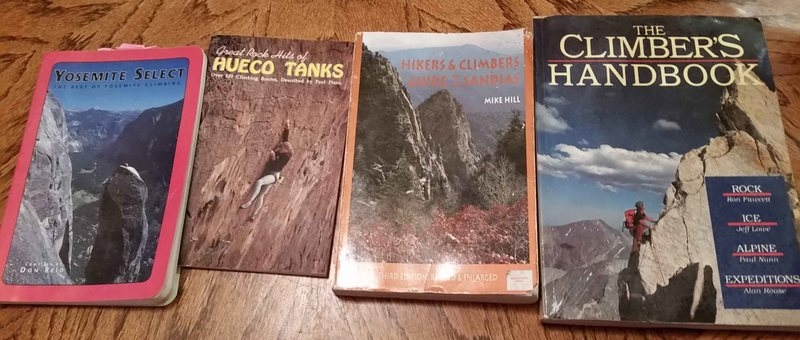 Climbing books from late 1990s to early 2000s