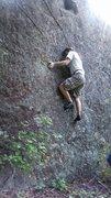 Rock Climbing Photo: Bottom of the problem. Myself, July 2015.
