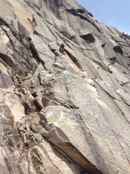 Rock Climbing Photo: Nick cleaning a little rubble out if the new corne...