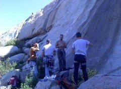 Rock Climbing Photo: Das Crew & The Big Rock!!!