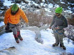 Rock Climbing Photo: Jerr Bear & the Ice Cicle!!!