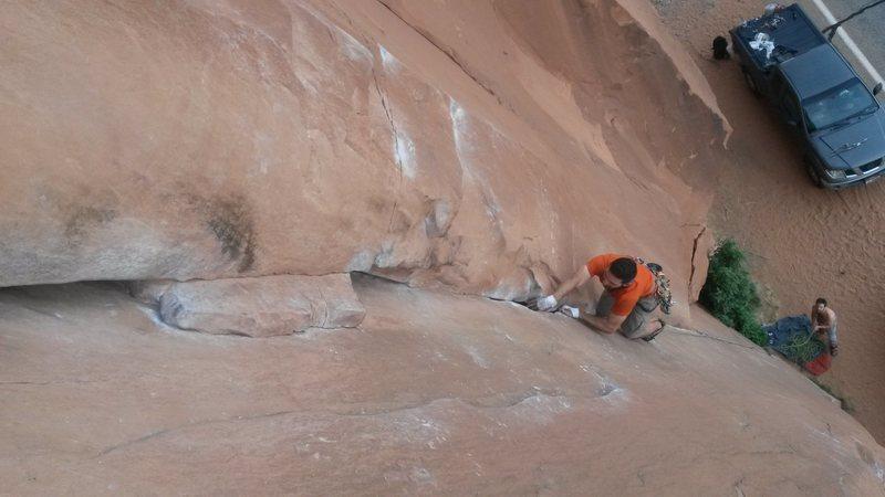 Rock Climbing Photo: Sending the route!