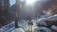 Rock Climbing Photo: Hiking with my dog
