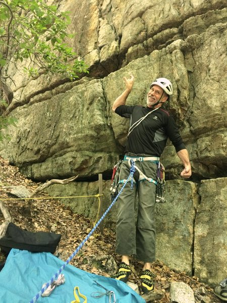Rock Climbing Photo: Off Limits starts above the stake to the left of t...
