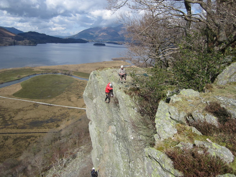 Rock Climbing Photo: On Sheperds Crag Borrowdale