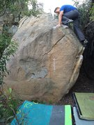 Rock Climbing Photo: Sean on Shortest Straw