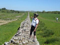 Rock Climbing Photo: On The Roman Wall