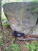 Rock Climbing Photo: North face slab on Boulder 1.