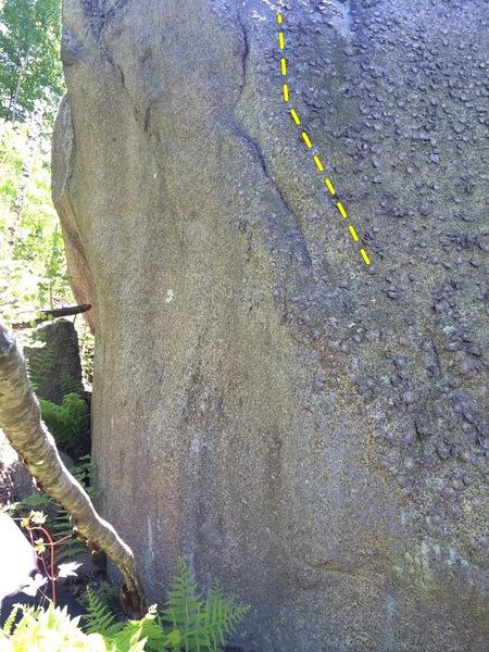 Rock Climbing Photo: Rail to Jug on Boulder 2.