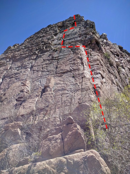 Rock Climbing Photo: Easy corner to west face direct