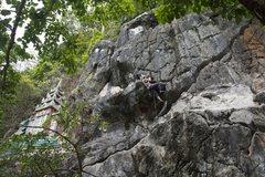 Rock Climbing Photo: Katie on Colombière