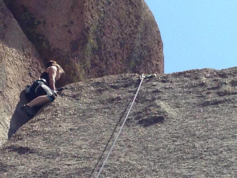 Rock Climbing Photo: Loving the crack ;)