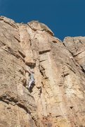 Rock Climbing Photo: Shelf Road climb - Not sure of the route name but ...