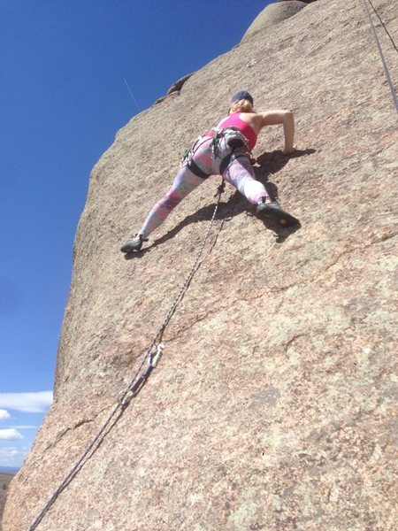 Rock Climbing Photo: Little bit of a scary lead in Vedauwoo