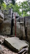 Rock Climbing Photo: Great route to learn off-width.