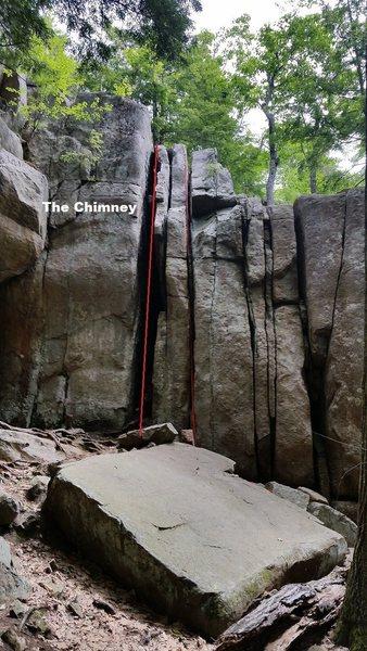 Rock Climbing Photo: Easy to climb beginner route