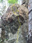 Rock Climbing Photo: Trickster Directional Beta.