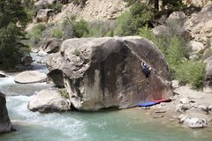 Rock Climbing Photo: Jordy spiking the angler.