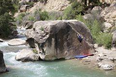Rock Climbing Photo: Jordy spiking the angler.
