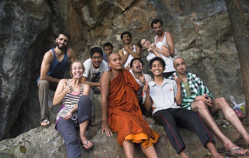 Early climbing and bolting trip at Karaweik Wall