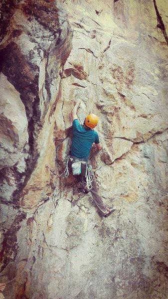 Rock Climbing Photo: FA of Elephant Leather