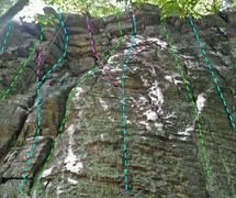 Rock Climbing Photo: Check Book wall - Emerg Prom: B. Unwinding the Tra...