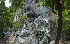 Rock Climbing Photo: Die Kleine Hexe is number 4 on the Karaweik Wall L...