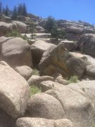 Rock Climbing Photo: This is what the boulder looks like as you approac...