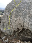 Rock Climbing Photo: I for an Eye, exit left or right