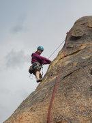 Rock Climbing Photo: Checking holds on Half 'n' Half.
